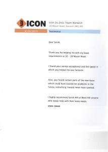 ICON testimonial for Ward Hill